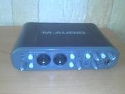 продам звуковую карту m-audio fast track pro