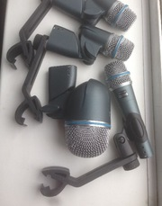 Микрофоны shure ,  подзвучка,  барабаны